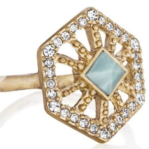 C + I Portico Hexagon Ring